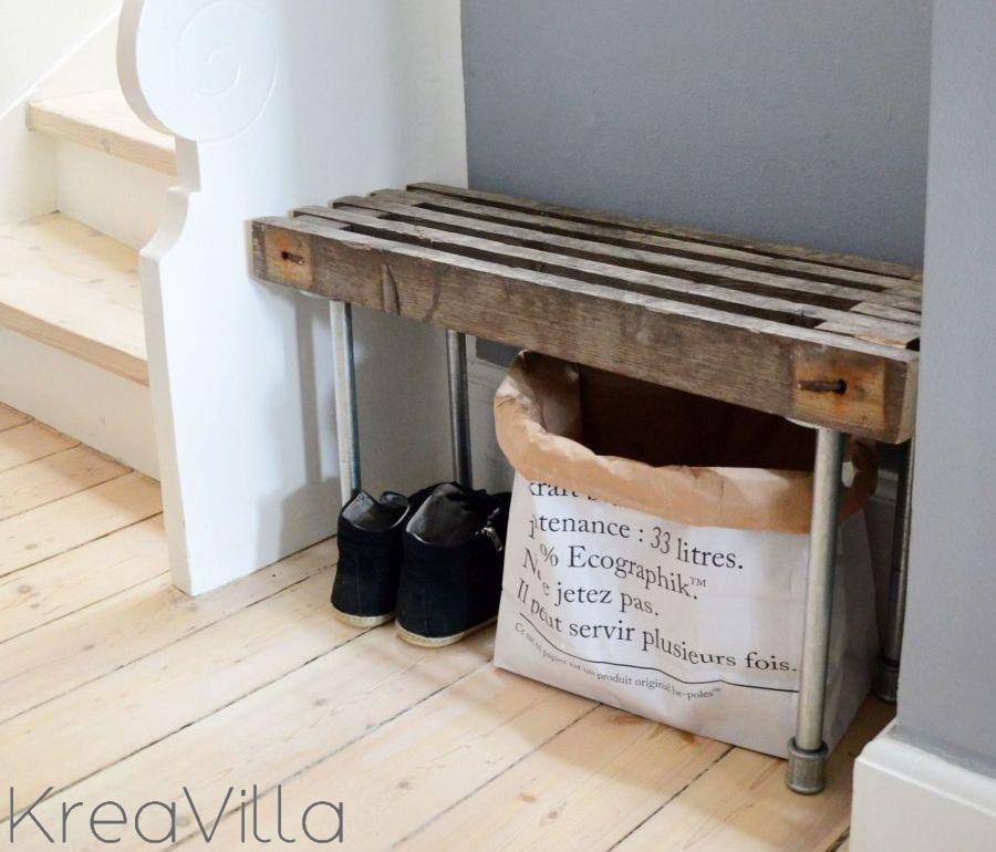 DIY: Bænk af treller | KreaVilla