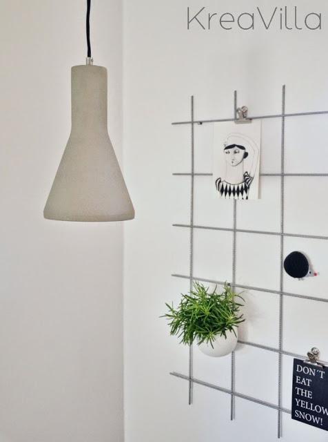 Opslagstavle af metalgitter DIY | Kreavilla